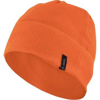 Fleecemütze orange   02