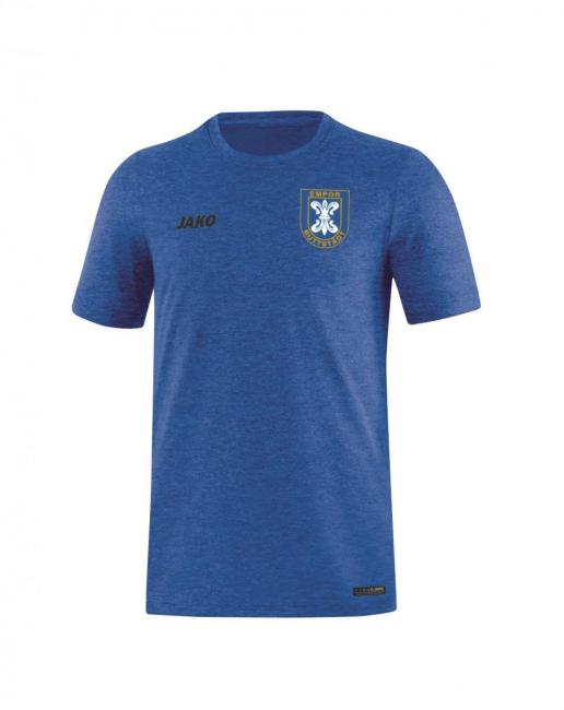 T-Shirt Premium Basics Empor Buttstädt royal meliert | 4XL