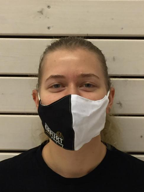 Maske Schwarz Weiss Erfurt Volley-Team schwarz / weiß