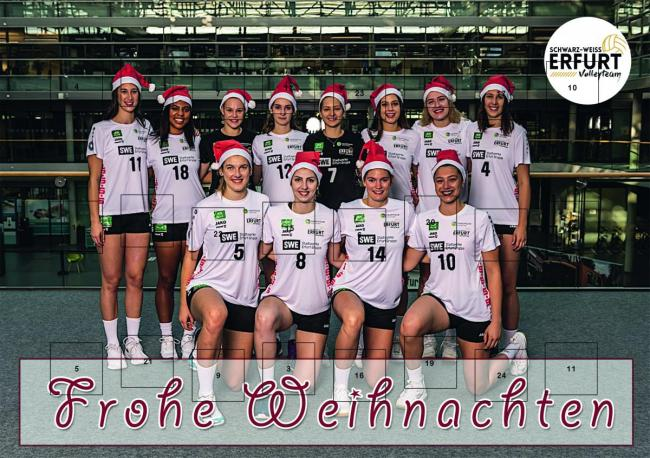 Adventskalender Schwarz Weiss Erfurt Volley-Team