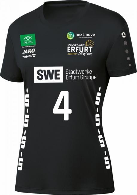 Trikot Team KA Schwarz Weiss Erfurt schwarz | 164