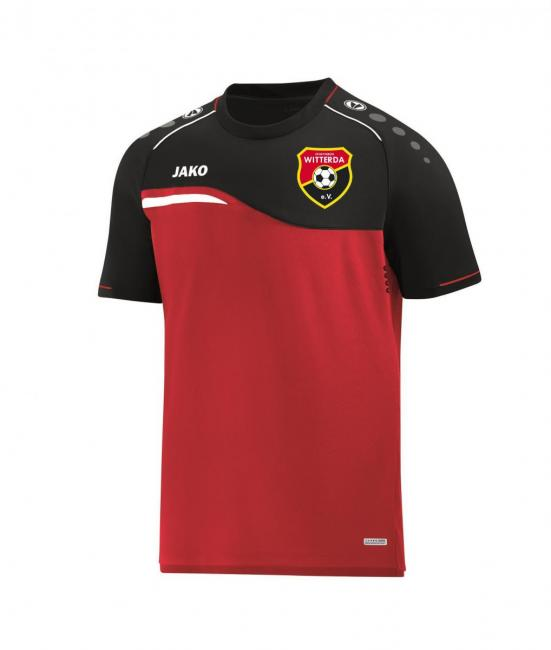 T-Shirt Competition 2.0 Sportverein Witterda rot/schwarz   M