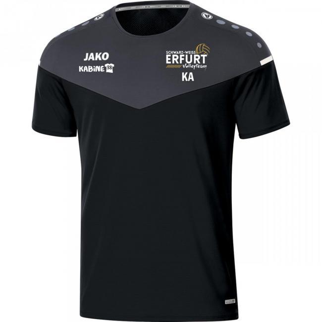 T-Shirt Champ 2.0 Schwarz Weiss Erfurt Volley-Team schwarz/anthrazit   140