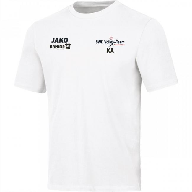 T-Shirt Base SWE Volley-Team weiss | 4XL