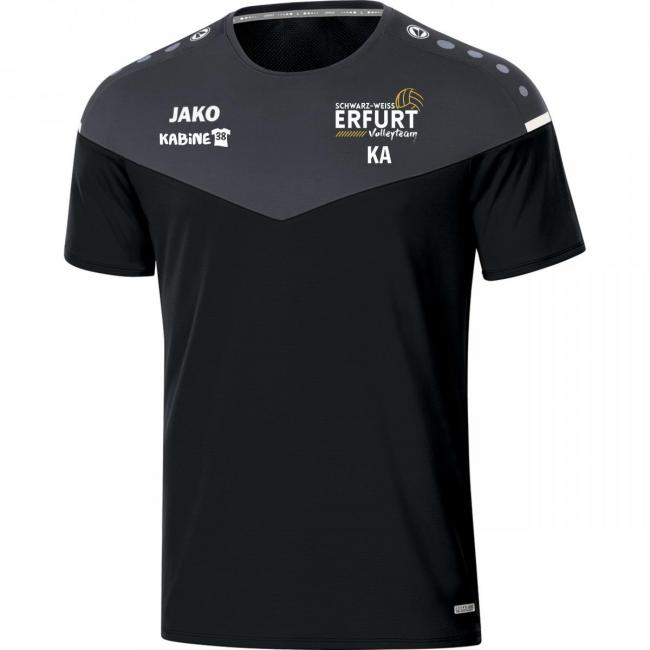 T-Shirt Champ 2.0 Schwarz Weiss Erfurt Volley-Team schwarz/anthrazit   XXL