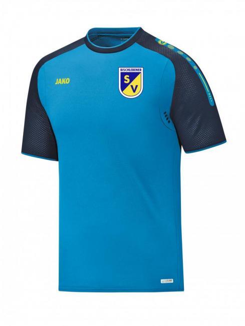T-Shirt Champ Bischlebener SV JAKO blau/marine/neongelb | 152