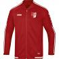 Freizeitjacke Striker 2.0 SV Fortuna Ermstedt  Farbe chili rot/weiß
