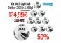 10 x Lightball Striker 2.0 Trainingsball inkl. Ballnetz  Farbe 5